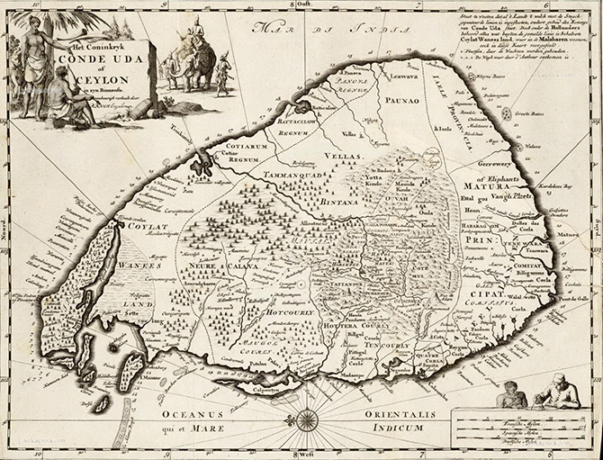 map-of-ceylon-c1692